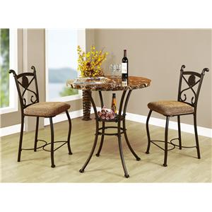 Acme Furniture Kleef 3 Piece Counter Height Dining Set