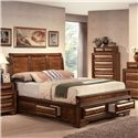 Acme Furniture Konane Traditional Sleigh King Bed W/Drawer Storage - Bed Shown May Not Represent Size Indicated