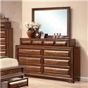 Acme Furniture Konane Traditional Dresser-top Mirror - Shown with Dresser
