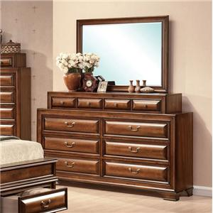 Acme Furniture Konane Dresser and Mirror Combo