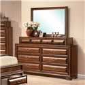 Acme Furniture Konane Traditional Dresser and Mirror Combo