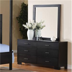 Acme Furniture London Dresser and Mirror Combo
