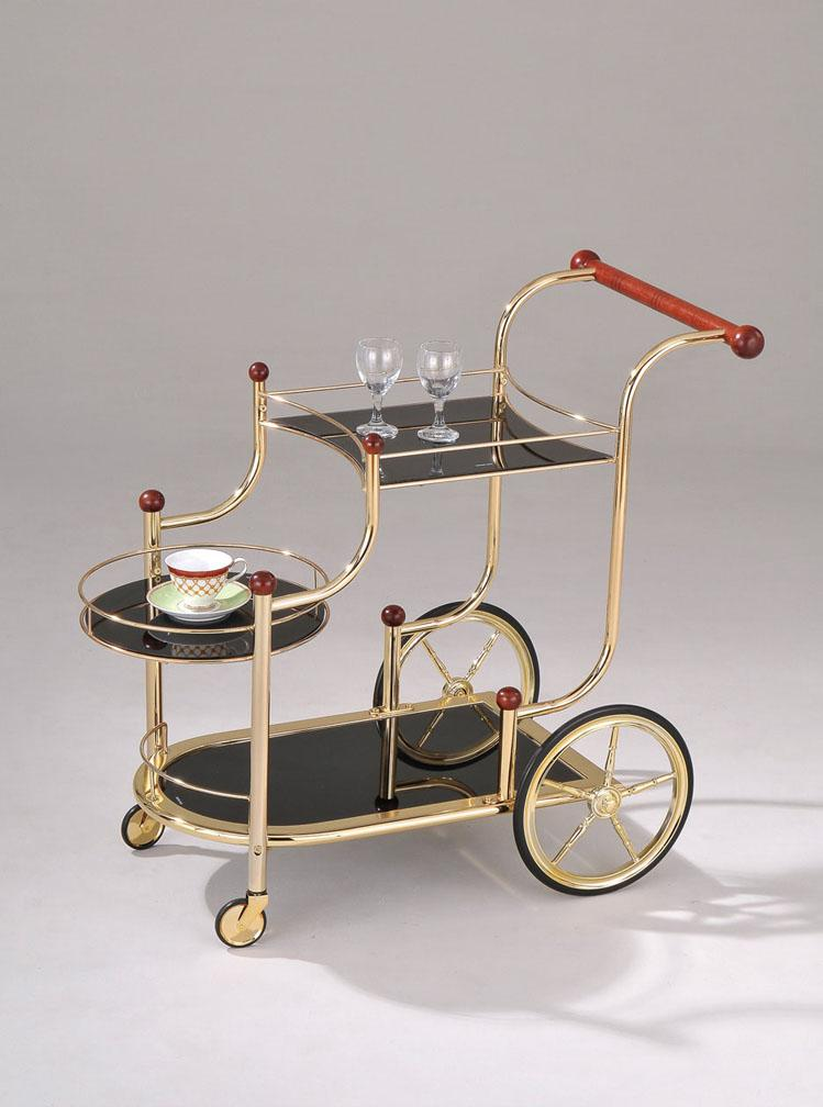 Acme Furniture Mace Gold Serving Cart - Item Number: 98006