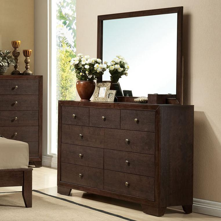 Acme Furniture Madison Dresser and Mirror Combo - Item Number: 19575+19574