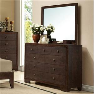 Acme Furniture Madison Dresser and Mirror Combo