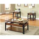 Acme Furniture Magus Coffee Table with Lift Top and Shelf - Shown with Top Lifted and End Table