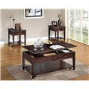 Acme Furniture Malachi Transitional End Table with Drawer and Shelf - Shown with Coffee Table