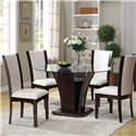Acme Furniture Malik 5-Piece Dining Table and Chair Set - Item Number: 70500+70502