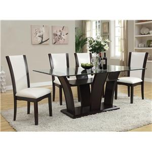 Acme Furniture Malik 5-Piece Dining Table and Chair Set