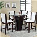 Acme Furniture Malik 5-Piece Counter Height Set - Item Number: 70510+70512