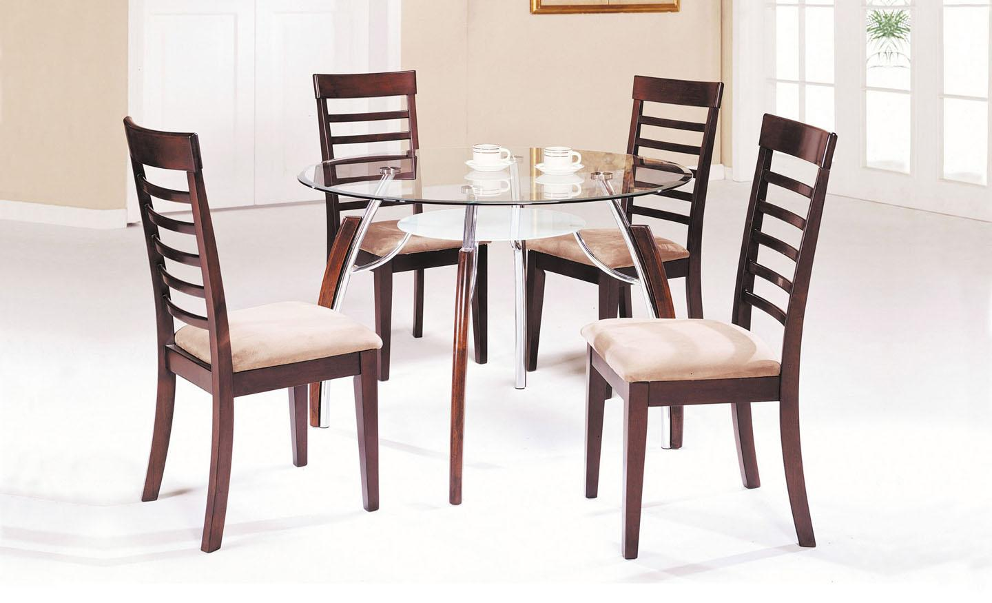 Acme Furniture Martini 5-Piece Dining Table and Chair Set - Item Number: 08185+08187