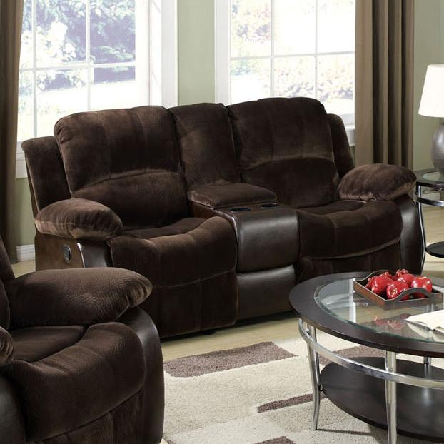 Acme Furniture Masaccio Loveseat W/Motion & Console - Item Number: 50473
