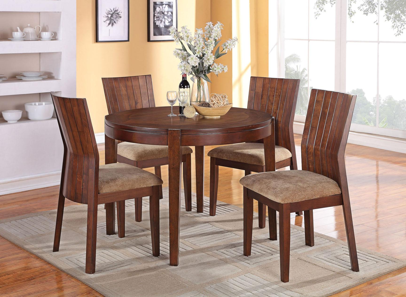 Acme Furniture Mauro Round Dining Table and Chairs - Item Number: 70542+70546