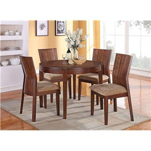 Acme Furniture Mauro Round Dining Table and Chairs