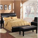 Acme Furniture Montego Espresso Accent Bench - Shown with Headboard and Footboard