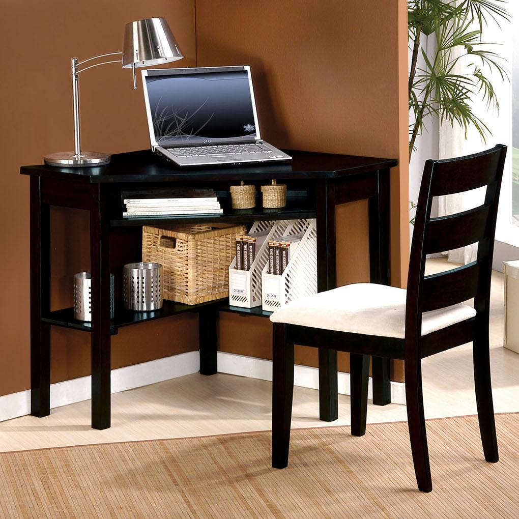 Acme Furniture Naco 2-Piece Set: Bk Corner Desk, Chair - Item Number: 00518