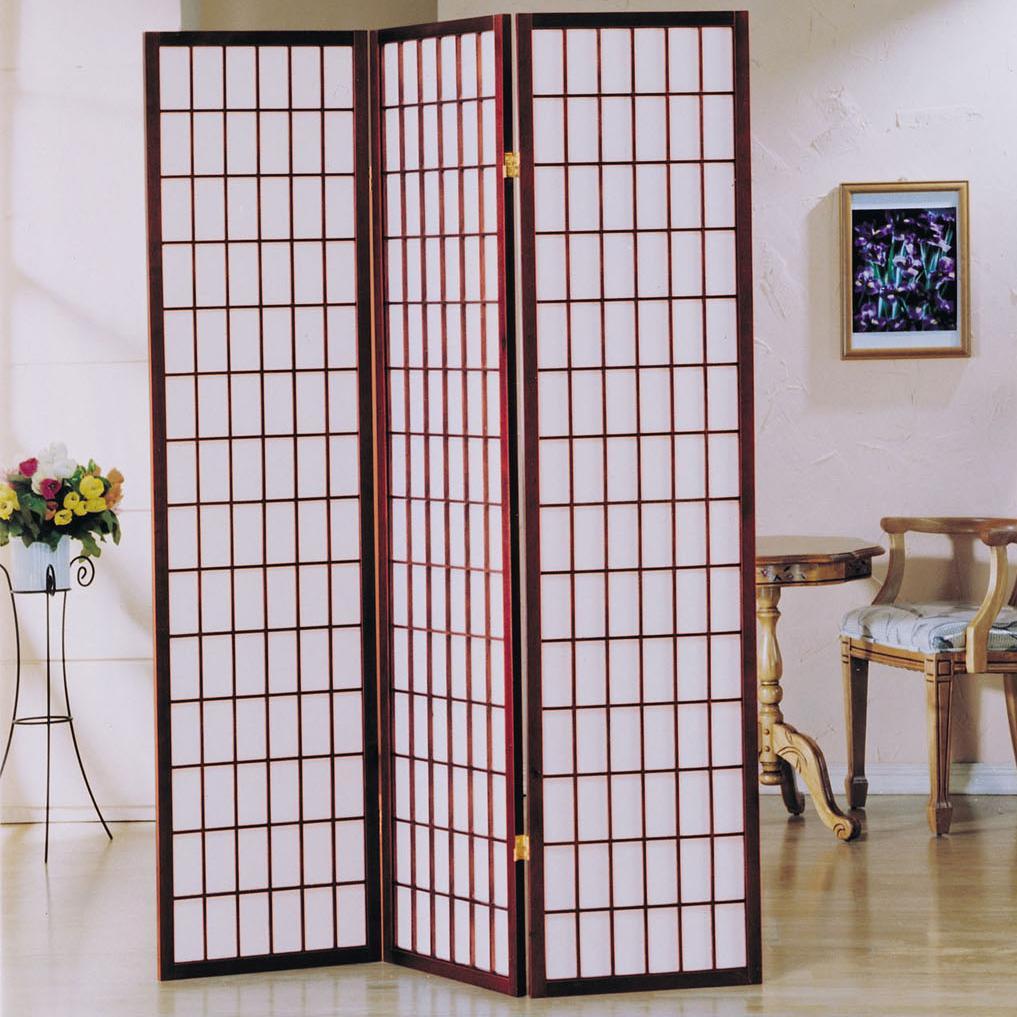 Acme Furniture Naomi  3-Panel Wood Screen - Item Number: 02277