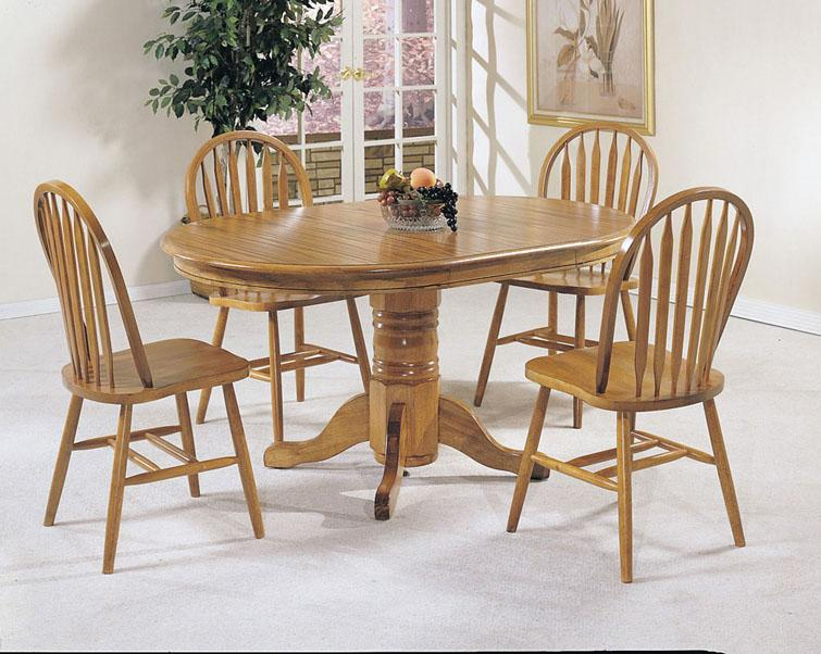 Acme Furniture Nostalgia 5-Piece Dining Table and Chair Set - Item Number: 02185T+06344OAK