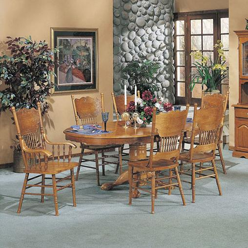Acme Furniture Nostalgia 7-Piece Dining Table and Chair Set - Item Number: 02186T+02185C+02186C