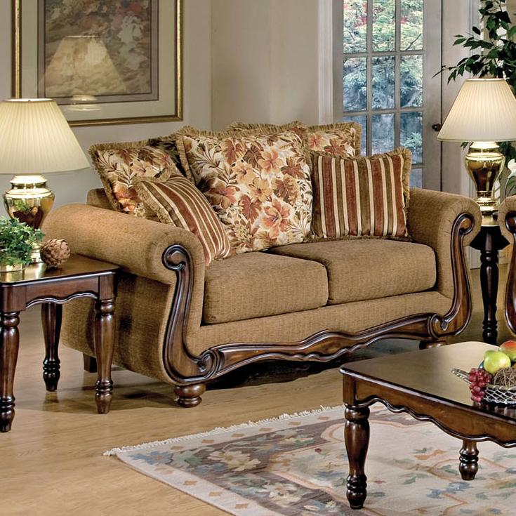 Acme Furniture Olysseus Stationary Loveseat - Item Number: 50311