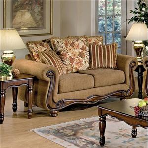 Acme Furniture Olysseus Stationary Loveseat