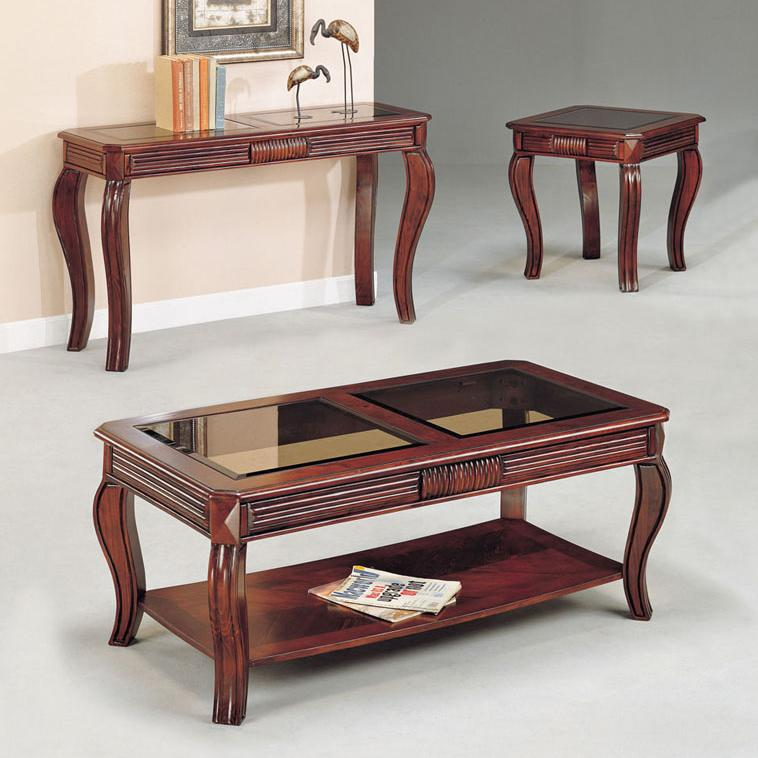 Acme Furniture Overture 3-Piece C/E Table Set W/Gl - Item Number: 06152