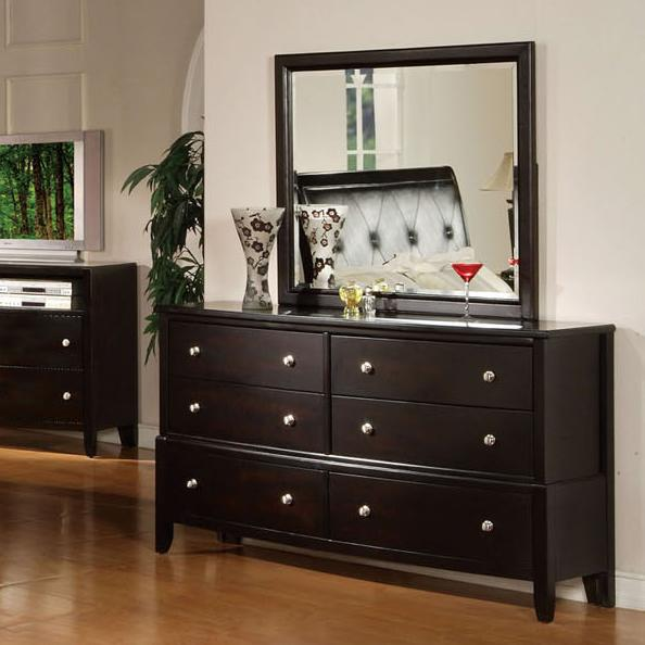 Acme Furniture Oxford Dresser and Mirror Combo - Item Number: 14305+14304