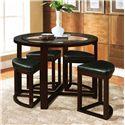 Acme Furniture Patia 5-Piece Counter Height Set - Item Number: 70360+70362