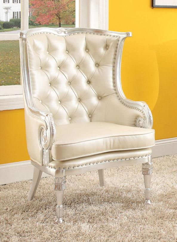 Acme Furniture Pawnee  Upholstered Accent Chair - Item Number: 59122