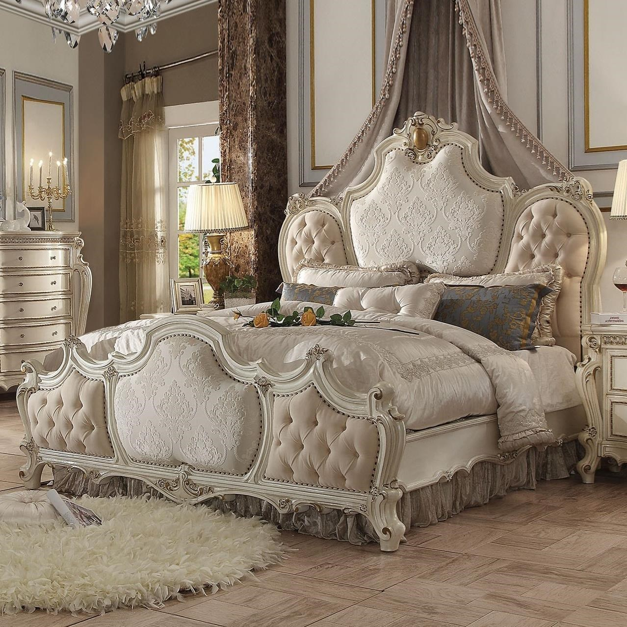 acme furniture picardy traditional california king