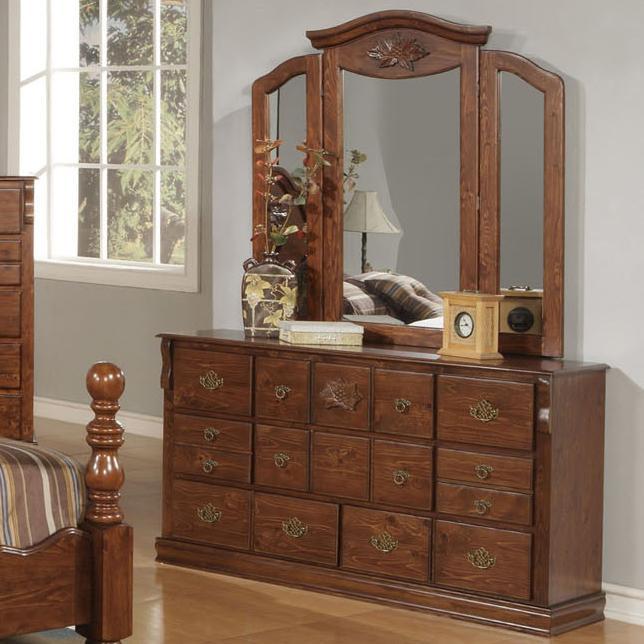 Acme Furniture Ponderosa Dresser & Mirror - Item Number: 01724+01725