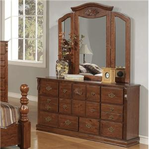 Acme Furniture Ponderosa Dresser & Mirror