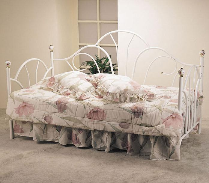 Acme Furniture Provence Day Bed with Porcelain Knobs - Item Number: 02076W
