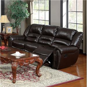 Acme Furniture Ralph Brown Reclining Sofa