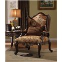 Acme Furniture Remington  Floral Chair W/1 Pillow - Item Number: 50157