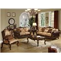 Acme Furniture Remington  Traditional Floral Chair W/1 Pillow - Shown with Loveseat and Sofa
