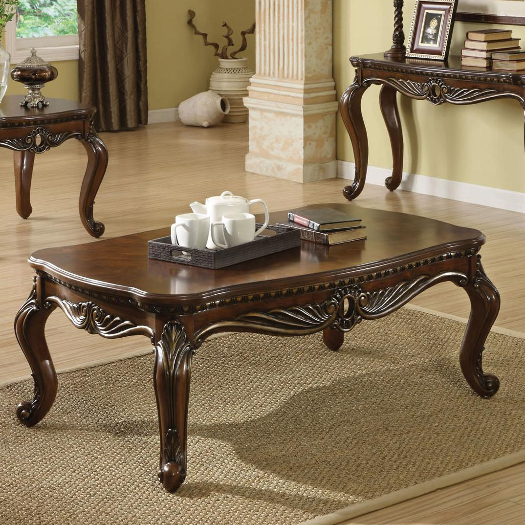 Acme Furniture Remington Brown Cherry Coffee Table - Item Number: 80064