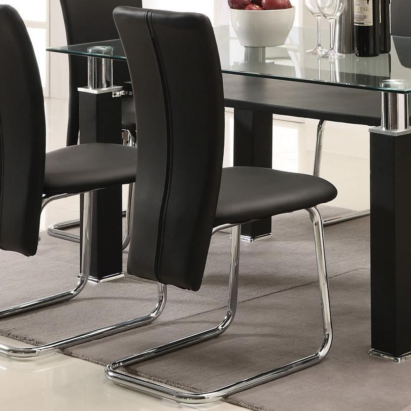 Acme Furniture Riggan Black Vinyl Side Chair - Item Number: 60203