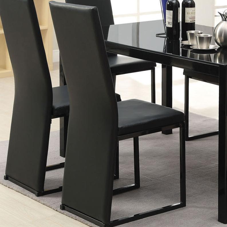 Acme Furniture Riggan Black Vinyl Side Chair - Item Number: 60207