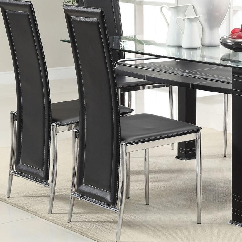 Acme Furniture Riggan Black Vinyl Side Chair - Item Number: 60211