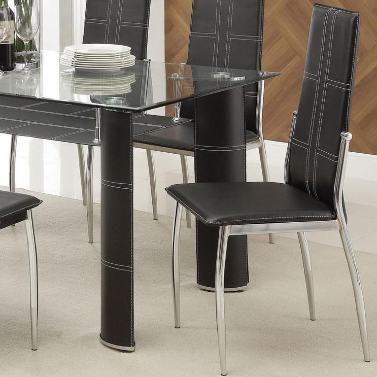 Acme Furniture Riggan Black Vinyl Side Chair - Item Number: 70202