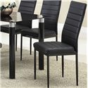 Acme Furniture Riggan Black Vinyl Side Chair - Item Number: 70597