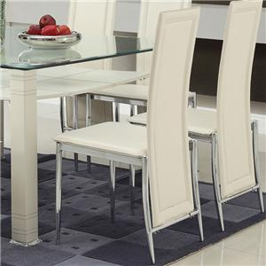 Acme Furniture Riggan White Vinyl Side Chair