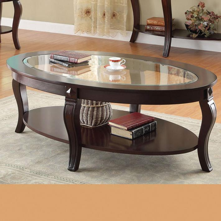 Acme Furniture Riley Oval Coffee Table  - Item Number: 00450