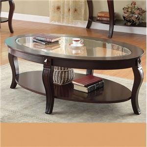Acme Furniture Riley Oval Coffee Table