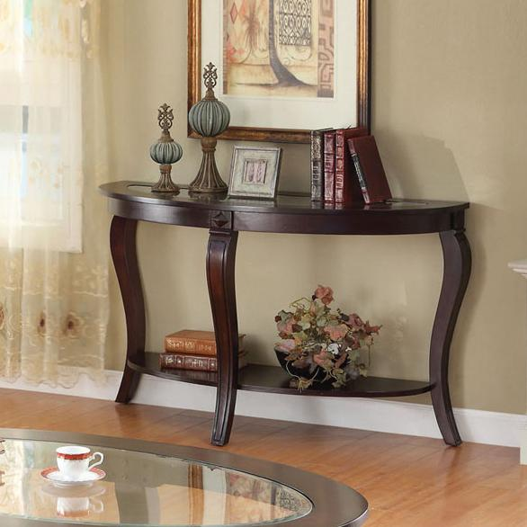 Acme Furniture Riley Oval Sofa Table - Item Number: 00453