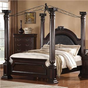 Acme Furniture Roman Empire California King Canopy Bed