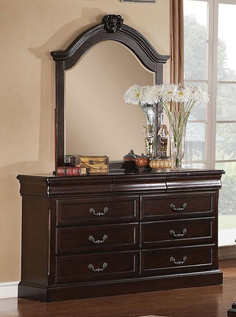 Acme Furniture Roman Empire Dresser And Mirror Set Item Number 21348 7