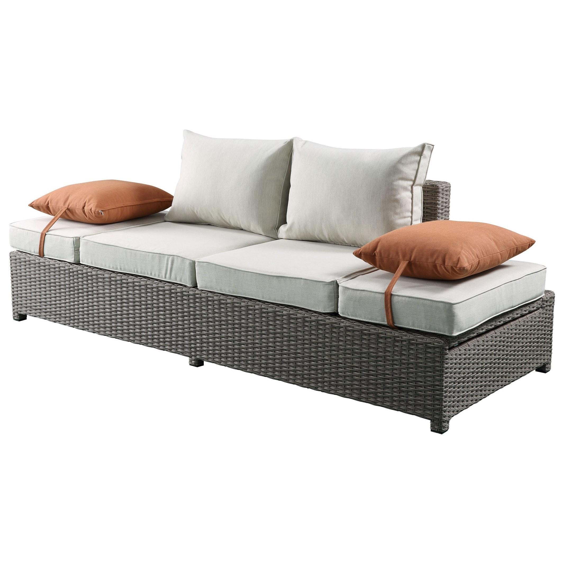 Patio Sofa & Ottoman w/2 Pillows