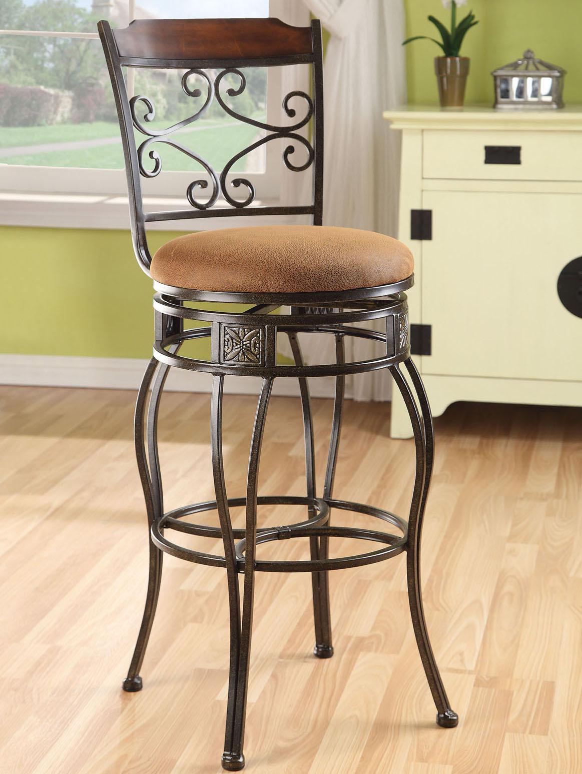 Acme Furniture Tavio Swivel Bar Chair - Item Number: 96045